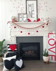 Best Valentines Day Mantel Decor Ideas That You Will Falling In Love With 30
