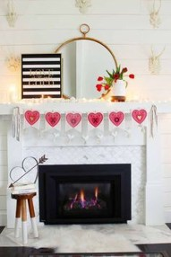 Best Valentines Day Mantel Decor Ideas That You Will Falling In Love With 47
