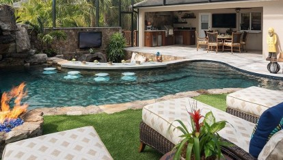 Comfy Pool Seating Ideas For Your Outdoor Decoration 28