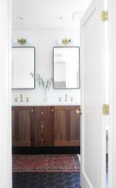 Impressive Black Floor Tiles Design Ideas For Modern Bathroom 49