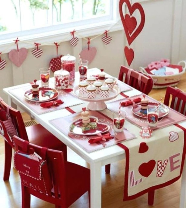 Most Inspiring Valentine's Day Simple Table Decoration Ideas 50