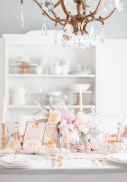 Perfect Valentine's Day Romantic Dining Table Decor Ideas For Two People 50