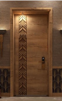 Artistic Wooden Door Design Ideas To Try Right Now 05