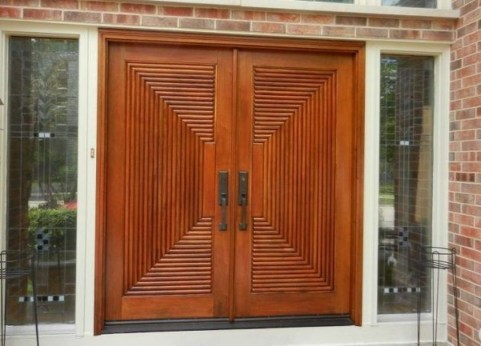 Artistic Wooden Door Design Ideas To Try Right Now 06