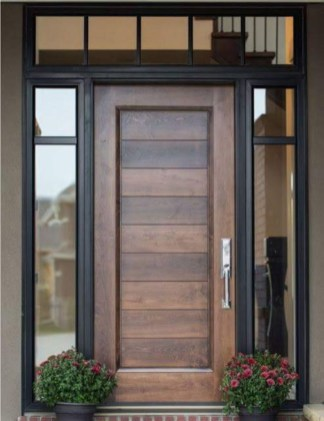Artistic Wooden Door Design Ideas To Try Right Now 18