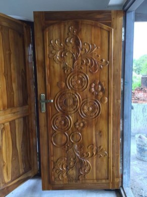 Artistic Wooden Door Design Ideas To Try Right Now 27