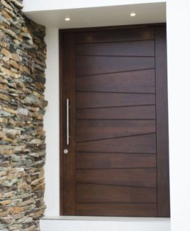 Artistic Wooden Door Design Ideas To Try Right Now 28