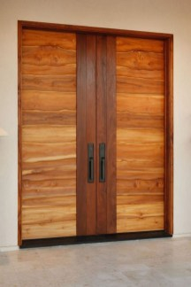 Artistic Wooden Door Design Ideas To Try Right Now 29