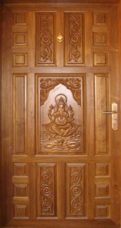 Artistic Wooden Door Design Ideas To Try Right Now 31