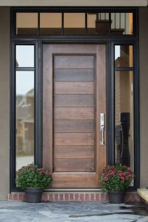 Artistic Wooden Door Design Ideas To Try Right Now 32