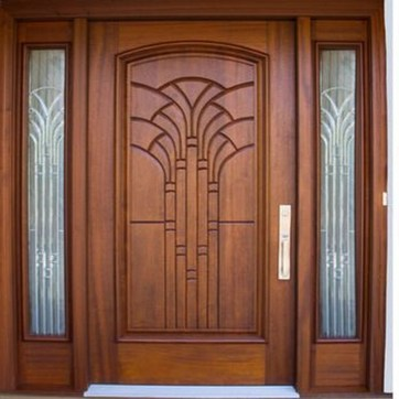 Artistic Wooden Door Design Ideas To Try Right Now 36
