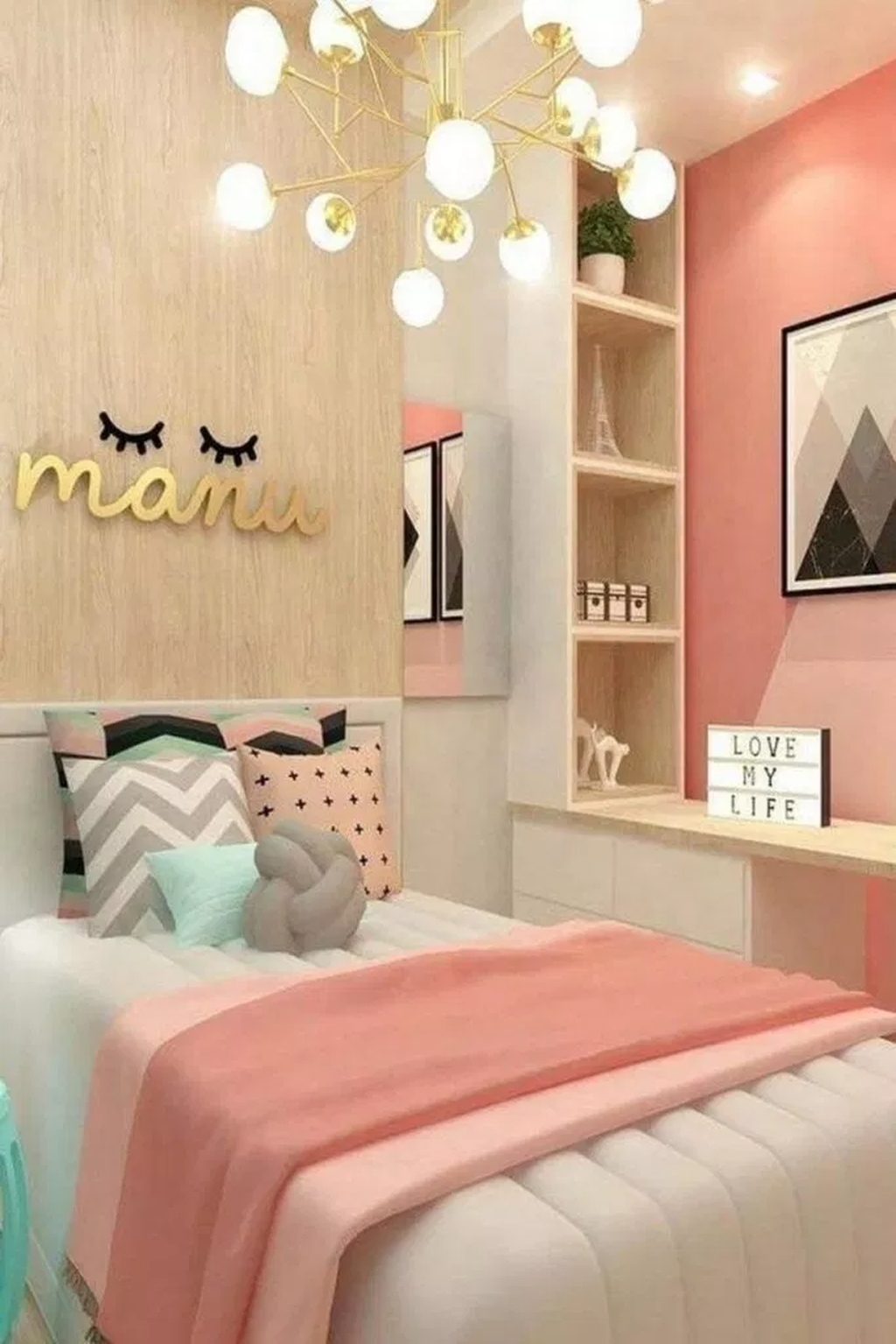 20+ Beautiful Girls Bedroom Ideas For Small Rooms To Try ... on Decorations For Girls Room  id=16610