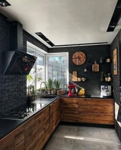 Delicate Black Kitchen Interior Design Ideas For Kitchen To Have Asap 05