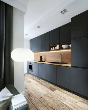 Delicate Black Kitchen Interior Design Ideas For Kitchen To Have Asap 06