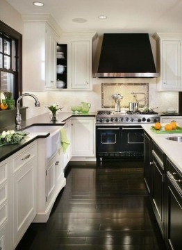 Delicate Black Kitchen Interior Design Ideas For Kitchen To Have Asap 07
