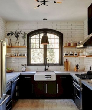Delicate Black Kitchen Interior Design Ideas For Kitchen To Have Asap 08