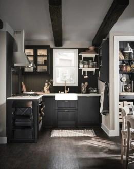 Delicate Black Kitchen Interior Design Ideas For Kitchen To Have Asap 16