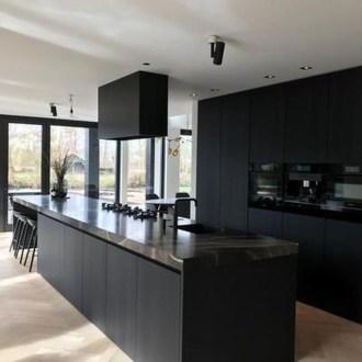 Delicate Black Kitchen Interior Design Ideas For Kitchen To Have Asap 17