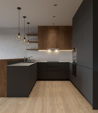 Delicate Black Kitchen Interior Design Ideas For Kitchen To Have Asap 24