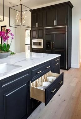 Delicate Black Kitchen Interior Design Ideas For Kitchen To Have Asap 25