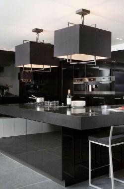Delicate Black Kitchen Interior Design Ideas For Kitchen To Have Asap 27