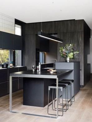 Delicate Black Kitchen Interior Design Ideas For Kitchen To Have Asap 36