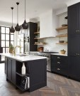Delicate Black Kitchen Interior Design Ideas For Kitchen To Have Asap 37