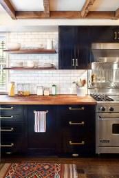 Delicate Black Kitchen Interior Design Ideas For Kitchen To Have Asap 40