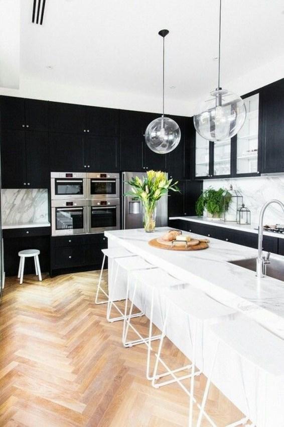 Delicate Black Kitchen Interior Design Ideas For Kitchen To Have Asap 50
