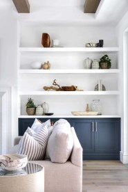 Easy And Simple Shelves Decoration Ideas For Living Room Storage 01