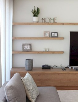 Easy And Simple Shelves Decoration Ideas For Living Room Storage 16