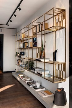 Easy And Simple Shelves Decoration Ideas For Living Room Storage 24