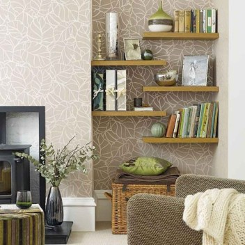 Easy And Simple Shelves Decoration Ideas For Living Room Storage 27