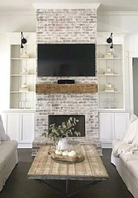 Easy And Simple Shelves Decoration Ideas For Living Room Storage 38