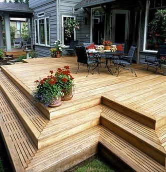 Fantastic Wood Terrace Design Ideas That You Can Try In This Spring 40