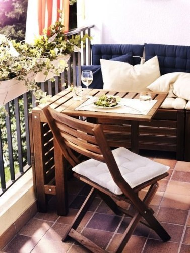 Fascinating Small Balcony Ideas With Relax Seating Area 01