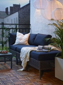 Fascinating Small Balcony Ideas With Relax Seating Area 23
