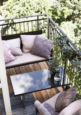 Fascinating Small Balcony Ideas With Relax Seating Area 26