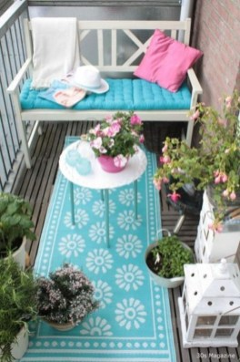 Fascinating Small Balcony Ideas With Relax Seating Area 29