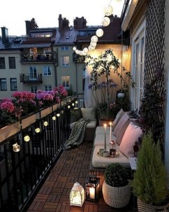 Fascinating Small Balcony Ideas With Relax Seating Area 32