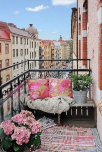 Fascinating Small Balcony Ideas With Relax Seating Area 33