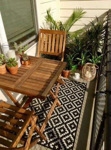 Fascinating Small Balcony Ideas With Relax Seating Area 40