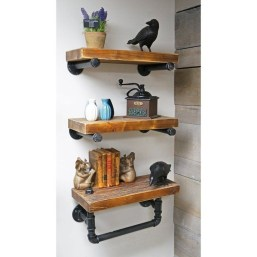 Innovative DIY Industrial Pipe Shelves You Can Make At Home 06
