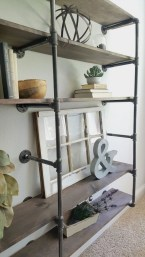 Innovative DIY Industrial Pipe Shelves You Can Make At Home 07