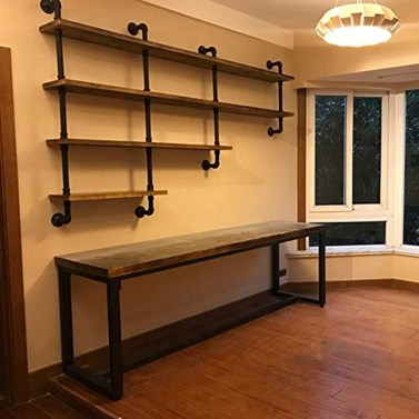 Innovative DIY Industrial Pipe Shelves You Can Make At Home 09