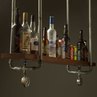 Innovative DIY Industrial Pipe Shelves You Can Make At Home 14