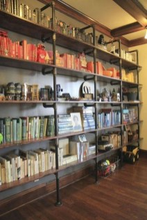 Innovative DIY Industrial Pipe Shelves You Can Make At Home 17