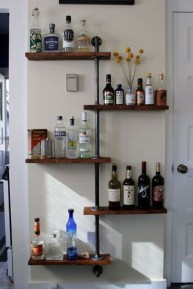 Innovative DIY Industrial Pipe Shelves You Can Make At Home 22