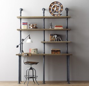 Innovative DIY Industrial Pipe Shelves You Can Make At Home 25