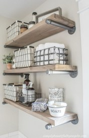 Innovative DIY Industrial Pipe Shelves You Can Make At Home 41